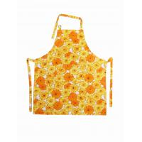 Wholesale Sunflower Printed Bib Cotton Kitchen Apron Personalized Aprons For Women from china suppliers