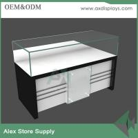 Customized glass mobile counter design cabinet mobile display showcase