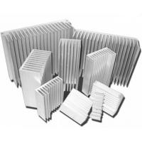 Wholesale Silvery Anodized Aluminum Heat sink Extrusion Profiles , Aluminum Radiator from china suppliers