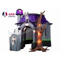 Wholesale New Light Up Halloween LED Lighting Inflatable Halloween Ghost House PVC Halloween from china suppliers
