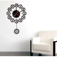 Wholesale Black Design Vinyl Wall Sticker Clock 10A066 Numbers Wall Decoration from china suppliers