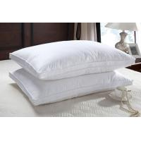 Wholesale 50% duck down feather  natual good filling white pillow insert with piping from china suppliers