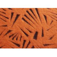 Wholesale Hollow Out Orange Tiger Skin High Fashion Fabrics , Soft Textille Wool Dressmaking Fabric from china suppliers