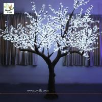 Wholesale UVG Artificial Cherry Tree Led Lights white wedding decoration from china suppliers