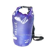 Wholesale Water-Resistant 10L Blue PVC  Dry Tube Bag , Travel Dry Backpacks with Adjustable Shoulder Strap from china suppliers