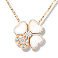 Wholesale VCA Cosmos Medium Model Clip Pendant Necklace Pink Gold white Mother-of-pearl VCARO5BV00 from china suppliers