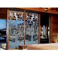 Wholesale 10mm Optic White Interior Decorative Glass Doors For Bedroom , Thai Style from china suppliers