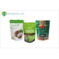 Wholesale Green Matte Stand Up Pouch Packaging Zip Lock Bags For Tea /  Milk Powder from china suppliers