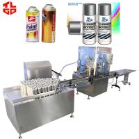 Wholesale Automatic Spray Paint Can Filling Machine For Organic Spray Paint 2000-3600cans/Hour from china suppliers