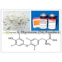 Wholesale Bulking Cycle Positive T4 / L-Thyroxine Legal Oral Steroids 51-48-9 Levothyroxine Sodium Powders from china suppliers