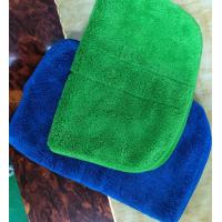 Wholesale Microfiber Green Colorful Coral Fleece Stitching Car Kitchen Towels 26*36cm 600gsm from china suppliers