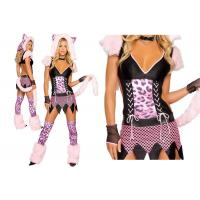 Wholesale Faux Fur Pink Sexy Girl Halloween Costume  , Naughty Pussycat Fancy Dress Costumes from china suppliers