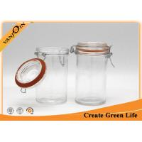 Wholesale 350ml safe reusable Round Glass Storage Jars with Lids for kitchen from china suppliers