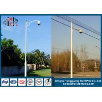 Wholesale Q235 Single Arm Security Camera Pole For Traffic Monitor Project from china suppliers