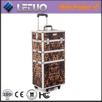 Wholesale Leopard Beauty Trolley professional makeup trolley case from china suppliers