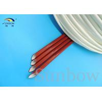 Quality UL Brick Red Silicone fiberglass sleeving silicone rubber coated fibreglass sleeves for sale
