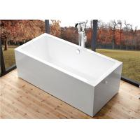 Wholesale Deep Soaking Rectangle Acrylic Free Standing Bathtub With Overflow Space Saving from china suppliers