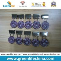 Wholesale Custom Logo on Round Panel Office Binder Clip Holders from china suppliers