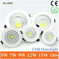 Wholesale 2015 Newest Dimmable LED Recessed Downlight 5W 7W 9W 12W 15W COB Chip LED Ceiling light Spot Light Lamp White/ Warm from china suppliers