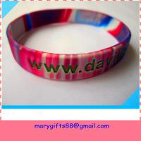 Wholesale 1/2 inch swirl colors silicone bangles from china suppliers