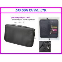 Wholesale Portable passport case with key holder, zipper card bag, nylon passport bag from china suppliers