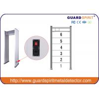 Wholesale 6 Zones Gate Metal Detector Door Frame , Security Walk Through Gate High Efficient from china suppliers