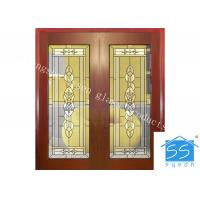Quality Custom Glass Panels For Doors , 16-30 Mm Decorative Stained Glass for sale