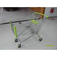 Buy cheap 150L Wire Shopping Carts Supermarket Shopping Trolley With Anti - UV Plastic Parts from wholesalers