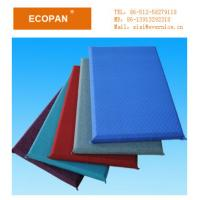 Wholesale Colored Fiberglass Fabric Wrapped Acoustical Wall Panels Insulation 600×1200mm For Office from china suppliers