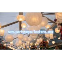 Wholesale White Collection Round / Unique Shaped Paper Lanterns , SGS CE Approved from china suppliers
