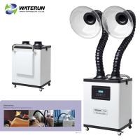 Buy cheap White Digital Display Two Tubes 110v Fume Extractor For Medical Fume And Beauty Fume from wholesalers