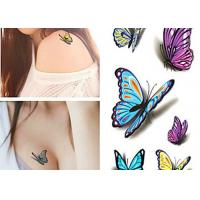 Multi Coloured Temporary Body Tattoo Stickers , Personalised Fake Tattoos Stikers