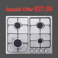 Wholesale 201 Level Stainless Steel Gas Hob , Inset 4 Burner Stainless Steel Gas Stove from china suppliers