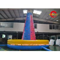 Wholesale Red / Blue Inflatable Climbing Wall Waterproof For Beach / Eater from china suppliers