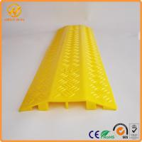Wholesale 2 Ways Floor Cable Protector Ramp Light Duty Plastic Yellow Jacket Cord Cover from china suppliers