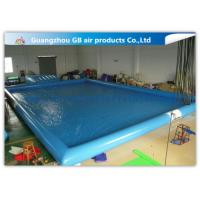 Wholesale Blue Inflatable Swimming Pool With Platform , Large Inflatable Pool For Adults from china suppliers