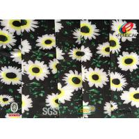 Wholesale Digital Printed Polyester Spandex Blend Fabric , Floral Lycra Swimwear Fabric from china suppliers