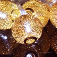 Quality battery operated crystal tennis balls decoration christmas string lights for sale