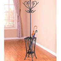 Wholesale Antique Black Clothes Hanger Stand , Metal Tree Coat Rack With Umbrella Stand from china suppliers