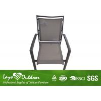 Wholesale Hotel Use Aluminum Patio Dining Chair , Outdoor Patio Stools Patio Deck Furniture from china suppliers
