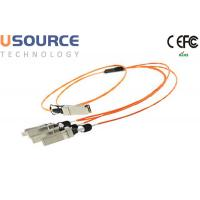 Wholesale Telecom grade Hot pluggable 40G QSFP to 4x10G SFP+ breakout AOC fiber optical cable from china suppliers