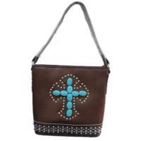 Wholesale 2014 Fashion New Inlaid Stones Shoulder Bag Handbag Purse Cross from china suppliers