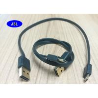 Wholesale Black Flat 2.0 USB To Micro USB Cable Reversible UL RoHS Certification from china suppliers