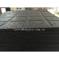 Wholesale Anti-slip black rubber pavers crumb flooring for Playground / garden / park from china suppliers