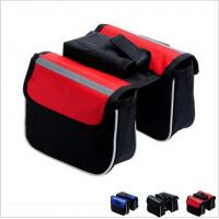 Wholesale bicycle bag double bicycle bag cycling bicycle frame pannier bike front tube bag from china suppliers