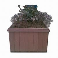 Wholesale 100% Eco-friendly WPC Flower Pot, Customized Sizes are Accepted, Rust- and Crack-proof from china suppliers