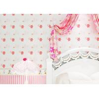 Wholesale Lovely Girls Room Wallpaper Removable / Childrens Flower Wallpaper Soundproof from china suppliers