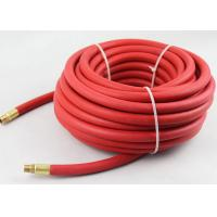 Quality ID 3/8 inch x 25 ft Red flexible air hose with Brass 1/4 inch NPT fittings for sale