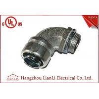 "Wholesale 1/2"" UL Listed Liquid Tight Malleable Iron Steel Lock Insulated Flexible Connector Galvanized 90 Degree from china suppliers"