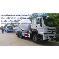 Wholesale EUROII Sinotruk HOWO Mobile Concrete Mixer Truck with 10CBM tanker  RHD 10 Wheels 336HP Engine from china suppliers